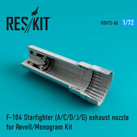 F-104 Starfighter (A/C/D/J/G) exhaust nozzle for Revell/Monogram Kit
