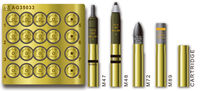 U.S. 75mm GUN AMMO SET(BRASS) - Image 1
