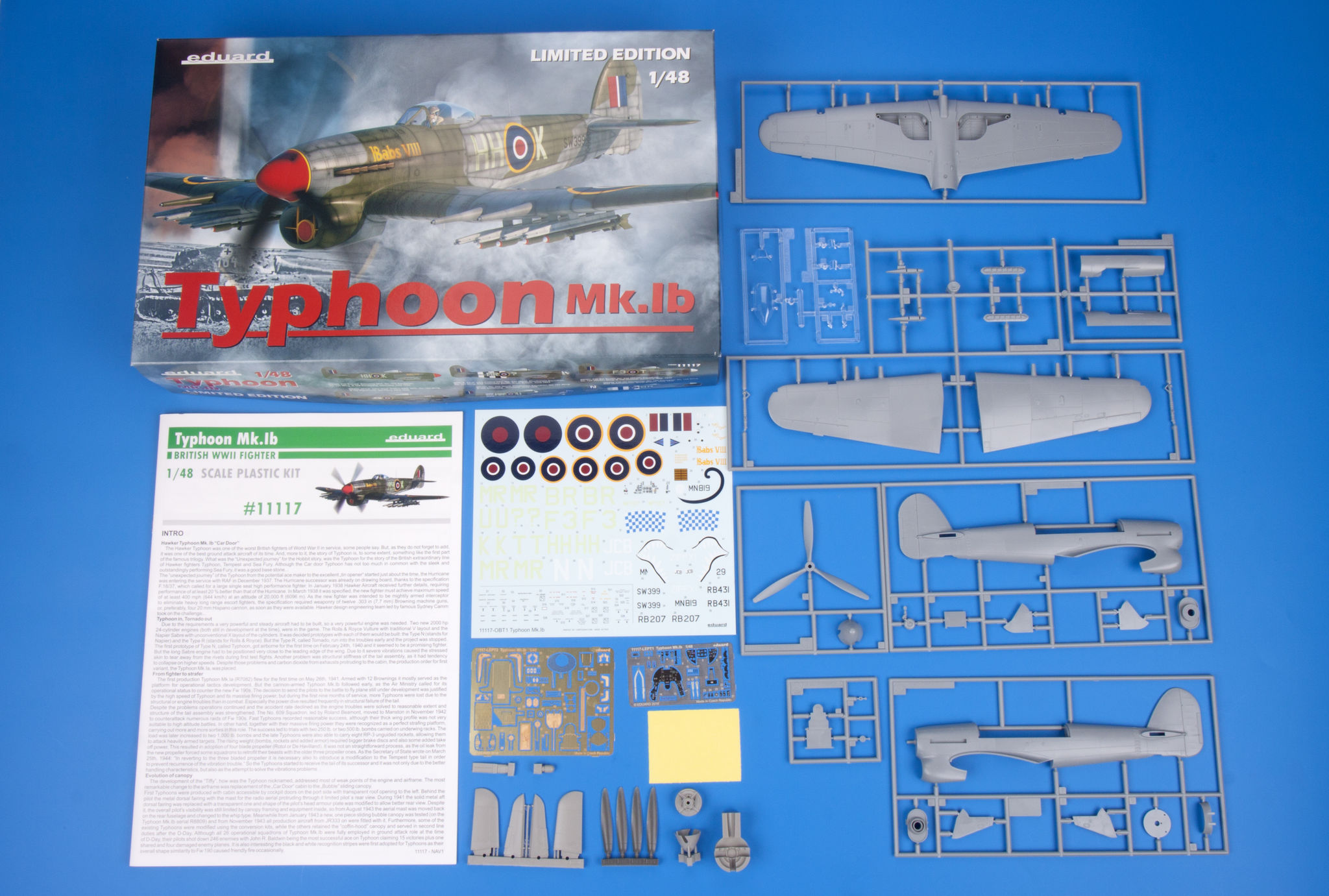 Eduard Accessories 624001 Typhoon wheels for Airfix in 1:24