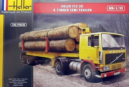 Volvo F12-20 & Timber Semi Trailer - Image 1