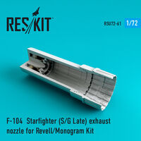 F-104 Starfighter (S/G Late) exhaust nozzle for Revell/Monogram Kit