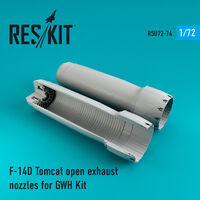 F-14D Tomcat open exhaust nozzles for GWH Kit