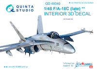 F/A-18C (late) 3D-Printed & coloured Interior on decal paper - Image 1