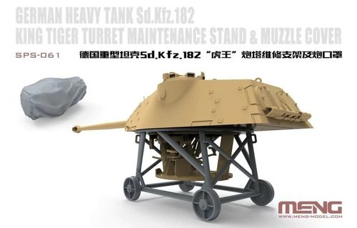 German Heavy Tank Sd.Kfz.182 King Tiger Turret Maintence Stand & Muzzle Cover - Image 1