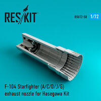 F-104 Starfighter (A/C/D/J/G) exhaust nozzle for Hasegawa Kit