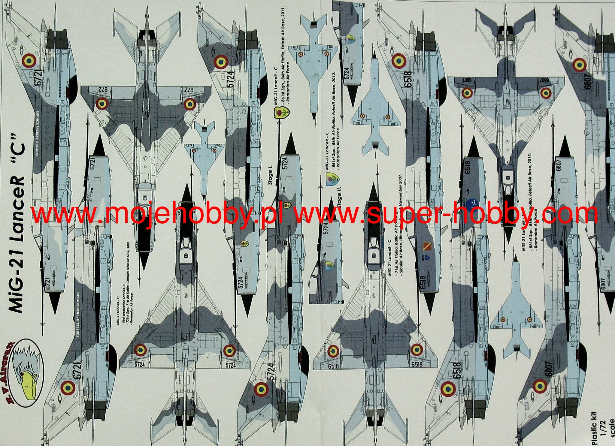 Quickboost 72231 1//72 MiG21MF Correct Spine /& Tail for Fujimi