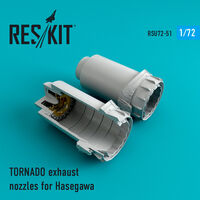 TORNADO exhaust nozzles for Hasegawa