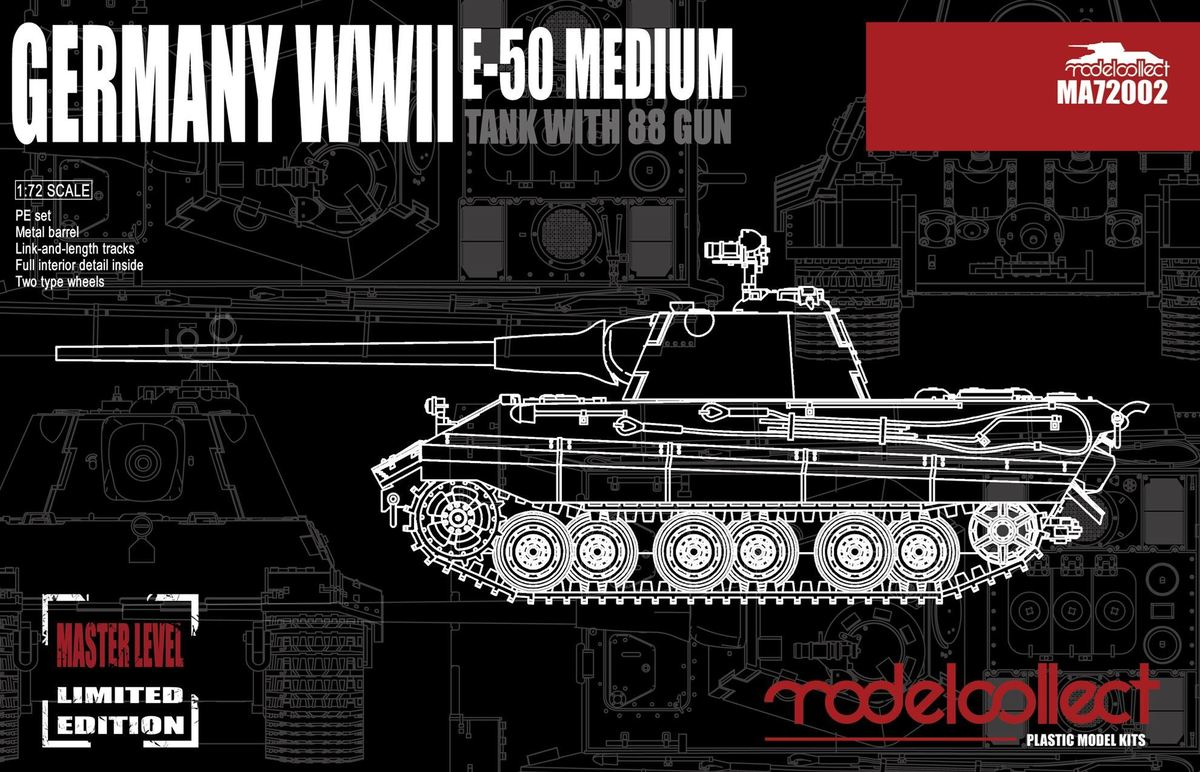 Germany WWII E-50 Medium Tank with 88 Gun - Image 1