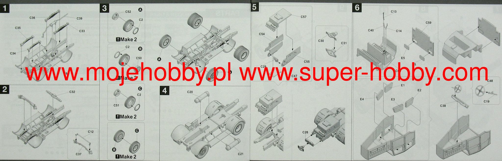 CMK B72100 Wheels for Special Armour Kit Meillerwagen V2 Transporter in 1:72