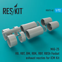 MiG-25 RB, RBT, BM, RBK, RBF, RBSh Foxbat exhaust nozzles for ICM Kit - Image 1