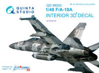 F/A-18A 3D-Printed & coloured Interior on decal paper - Image 1