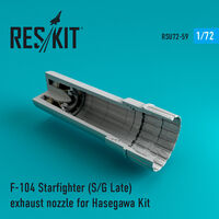 F-104 Starfighter (S/G Late) exhaust nozzle for Hasegawa Kit