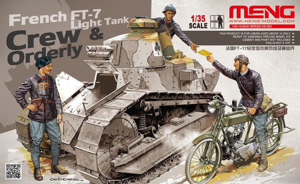 French FT-17 light tank crew & ordery - Image 1