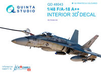 F/A-18A++ 3D-Printed & coloured Interior on decal paper - Image 1