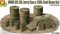 WWII US 20L Jerry Can & 200L Fuel Drum Set - Image 1