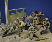 """In the Arms of Death"", Soviet Army Attack, Berlin 1945 (6 figures set) - Image 1"